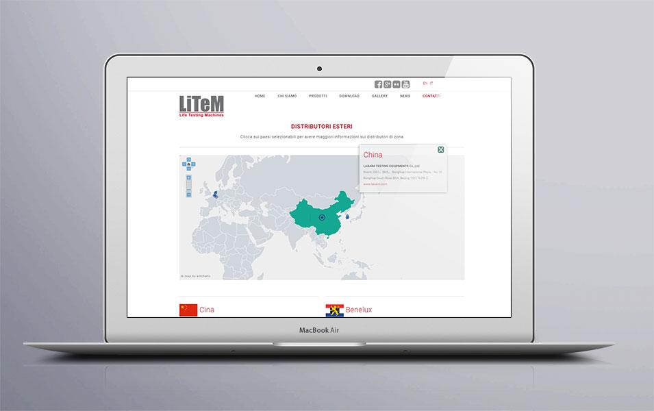 Mappa interattiva su sito web Litem
